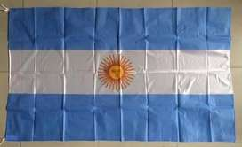 Bandera Argentina De Tela 90 X 150cm $