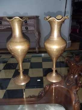 Par de anforas bronce