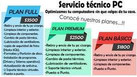 Servicio tecnico pc con planes