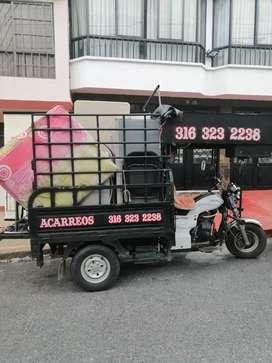 Acarreos en Ibagué servicio de moto carro