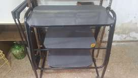 mesa para tv de caño y formica