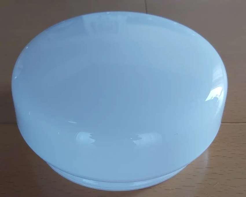 Tulipa de vidrio blanca para lampara de techo 14,5 de labio 0