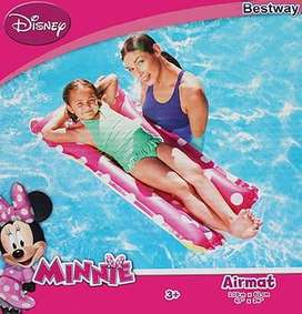 Flotador Colchoneta Inflable Disney Infantil Niña Minnie