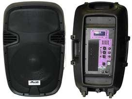 BAFLE POTENCIADO GBR PL1540 MP3 USB BLUETOOTH RADIO FM