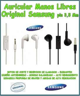Auriculares 3.5 Mm Samsung Galaxy Originales Microcentro
