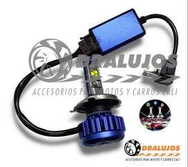 Bombillo led  Carro/Moto H4,H1,H11,H3,880,9005,H7,H16 8000lM Alta Potencia Canbus Turbo Led DC SKU: BOAL04H4