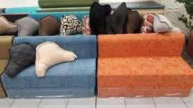 Sofa Cama de 2 Plazas TELA Y ULTRA CUERO