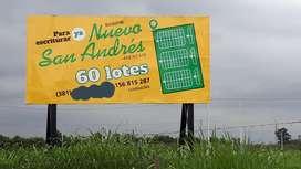 LOTES APTOS PARA CREDITO - NUEVO SAN ANDRES - ANEXO 470 VIVIENDAS