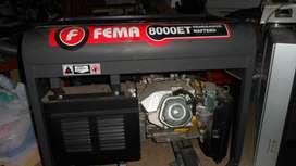 Generador6.5 KVA FEMA 8000ET.TRI/MONOFASICO.16HP.