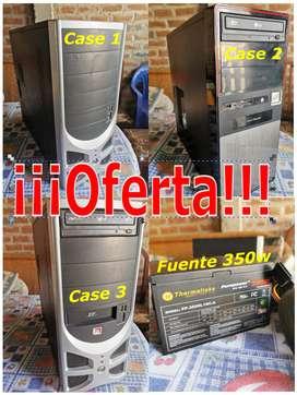 3 Cases de PC + 1 Fuente Thermaltake 350 W