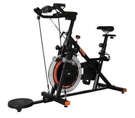 Bicicleta Spinning GYM FACT Estatica Eliptica Monitor Twister Bandas 2020 NUEVO