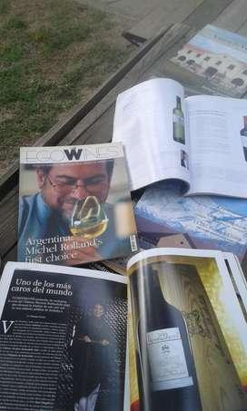 Revistas vino papel ilustracion
