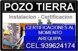 ELECTRICISTA A DOMICILIO aqp, C:9396241,74,INSTALACIONES DE POZOS A TIERRA,MEDICIONES,MANTENIMIENTOS,CON CERTIFICACIÓNES