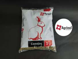 Alimento para conejos concentrado conejina AGRINAL bolsa x 1 kilo 4.700 pesos