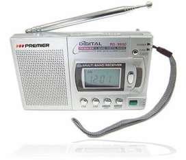 Radio Am Fm Digital Con Alarma Y Audífonos Premier