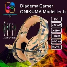 Diadema ONIKUMA K1B Camuflaje Amarillo