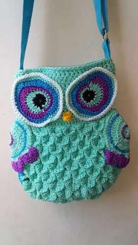 Bolso Crochet BUHO