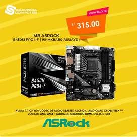 MB ASROCK B450M PRO4  AM4