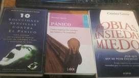 Vendo libros usados sobre Pánico