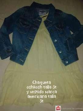 Vestido y chaqueta americana 5t