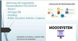 Desarrollador Web FrontEnd React Javascripts HTML5 css3