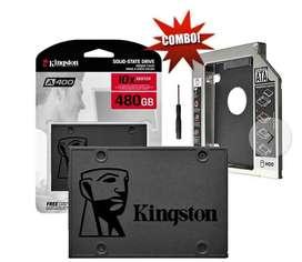Disco sólido Kingston 480 ssd + Adaptador Caddy