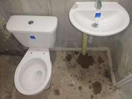 Combo sanitario y lavamanos corona