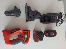 Vendo kit BLACK & DECKER 12 Quattro 3 en uno de uso casero de baja revolución