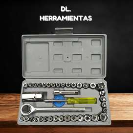 Set de herramientas llaves tubo 40 piezas