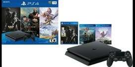 Playstation 4 con un control 1 Tb y tres juegos