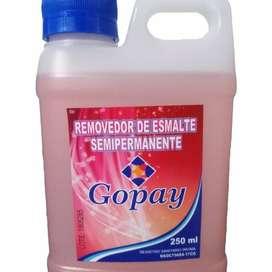 Removedor semipermanente, Gopay. X 250ml