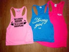 camisillas femeninas. para entrenamiento