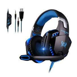 diadema gamer kotion g2000 con luz LED