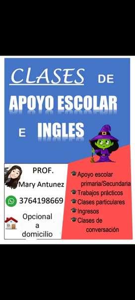 Clases de apoyo primaria y secundaria. Clases especiales de inglés