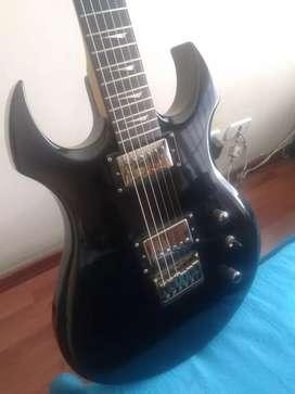 Guitarra Electrica Kramer Pariah Ebony HH Estuche