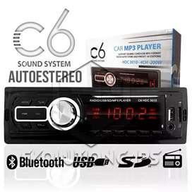 Vendo estereo con bluetooth, USB, aux, tarjeta sd y radio.