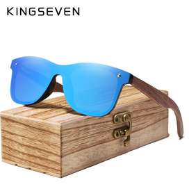 Anteojos Lentes De Sol Bamboo Polarized Sunglasses Kingseven New 19/20