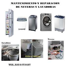 Reparación y mantenimiento de neveras y lavadoras