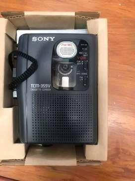 Grabadora de Cassette de Voz Dictado Sony TCM-359V Nueva