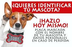 PLACAS DE IDENTIFICACIÓN PARA TU MASCOTA