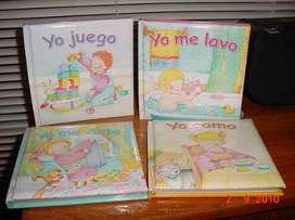 Colección Completa 4 Libros Infantiles Importados:Yo juego,Como, Me Visto Y Me Lavo