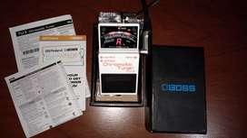 Pedal afinador de guitarra y bajo eléctrico Boss TU-3