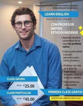 Clases de ingles con profesor nativo estadounidense