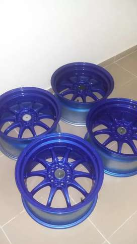 Rines 17x9 azul candy