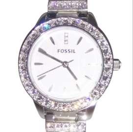 Desde EEUU, Reloj Fossil Jesse Original Acero con brillantes auténticos Para Mujer