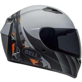 Casco Moto Integral Bell Qualifier talla L Certificado gris negro y naranja con vicera transparente