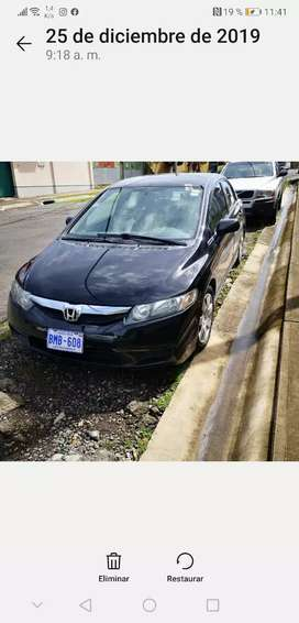 Honda Civic 2011 recivo