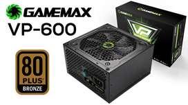FUENTE GAMEMAX VP 600W 80PLUS NUEVA