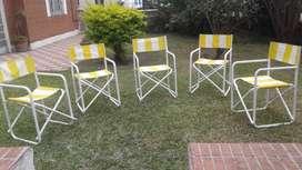 Juego sillas jardín x6