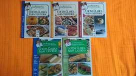 5 revistas de cocina recetas Dr. Favaloro bajo colesterol, bajas calorías
